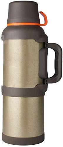 Pote de Aislamiento, Botella de la Taza 3.6-4L Hogar Coche al Aire Libre Capacidad de Gran Capacidad Viaje portátil Acero Inoxidable (Tamaño: 14x45cm, Color: Negro) HMP