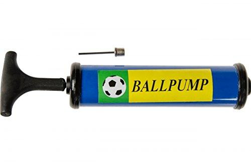 jameitop® Ballpumpe Mini-Luftpumpe Fussballpumpe 20 (34) cm mit Gewindenadel ideal für kleine Bälle