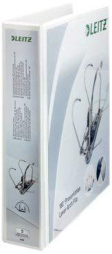 10er Pack Leitz 42250001 Präsentations-Ordner (A4 Überbreite, Rückenbreite 8 cm, zwei Außentaschen, graupappe, mit PP-Folienüberzug) weiß (10)