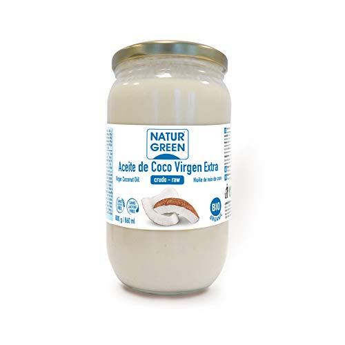 NaturGreen Aceite de coco Virgen Bio, Primera presión en frío - 800 gr