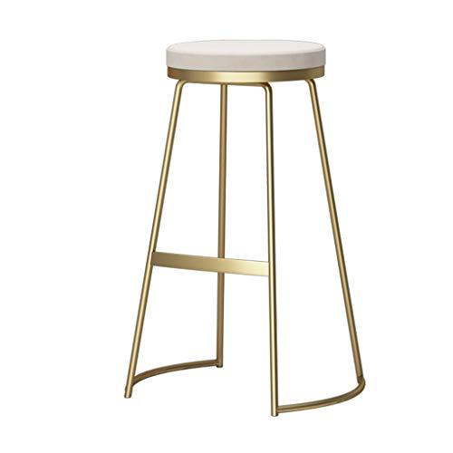 Repose-pieds de chaise Tabouret De Bar Moderne Petit Déjeuner Cuisine Tabouret Haut Tabouret Rond Repose-pied Design Repose-pieds (Matériau: Fer Forgé + Velours, 75 Cm)