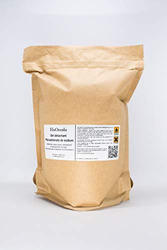 EluOecolo - Détachant et blanchissant Percarbonate 1,60kg sachet hermétique refermable - Oxygène actif <12%
