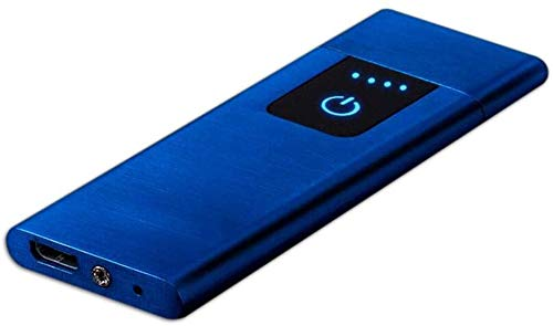 電子ライター | USB充電式シガレット電子ライター、ファンターボサウンドおよびキーチェーン付き| 金属シェルキャンプ防風魔法電子シガーライターピクニック点火器