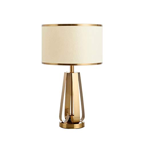 TDJJZHXYP Lámpara de Mesa Dorada lámpara de Noche para Dormitorio lámpara de Escritorio de Sala de Estar cálida Minimalista Moderna Creativa