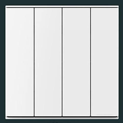 Interruptor De Panel De Pared Blanco Mate Interruptor De Tipo 86 Panel Ignífugo Interruptor De Control Oculto De 2 Vías 1-4 Gang Decoración De Pared Minimalista