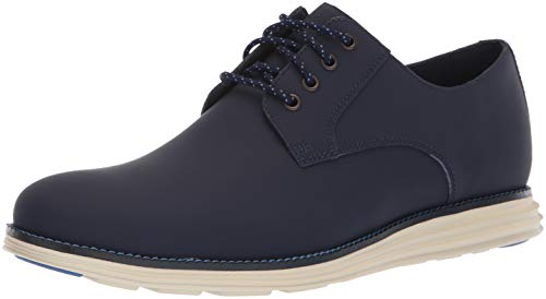 Cole Haan Men's Original Grand Plain Toe Sneaker, Blazer Blue Matte Leather, 11 M US