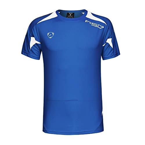 DEELIN Homme Mode Sport Fitness T-Shirt Col Rond Manches Courtes T-Shirt D'été Courir Tee Séchage Rapide Sport Hauts Hommes Blouse De Mode Impression