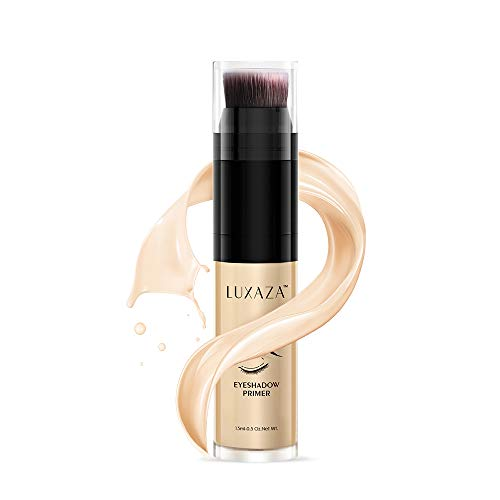 LUXAZA Eyeshadow Primer Makeup Waterproof Long Lasting Eye Primer Makeup Eyeshadow Base Lightweight Eyeshadow Primer For Prevent Oily Lids And Crease 15ml