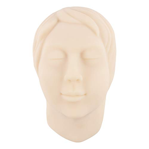 Injection Training Silicone Mannequin Face Model Head Model for Micro-Plastic Teaching, Practice Training to Medical Student, Doctor, Esthetician