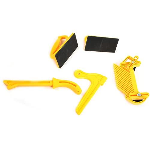 Barra de empuje de seguridad, asas ergonómicas, juego de 5 piezas, ensambladores de tablas de plumas para ingenieros para sierras de mesa
