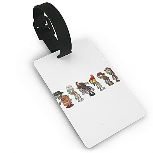 Etiquetas para equipaje de viaje Pla-NTS contra Zombies para viajeros inteligentes, ideales para evitar la pérdida de bolsas y maletas de PVC