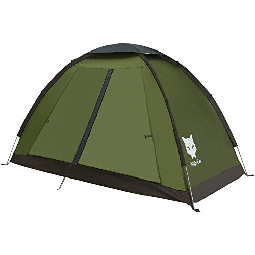 Night Cat Backpacking Tent for 1 2 People Camping Tent for Adults Scouts Kids Waterproof Roomy Lightweight Compact with Carrying Bag