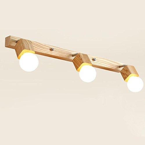 *badezimmerlampe Spiegel Vorderseite Licht Einfache Badezimmer Spiegel Licht Bad Wand Lampe Make-up Lichter Led Spiegel Schrank Lichter Massivholz Kleider Tischlampe (größe : 72 * 4.3 * 24CM)