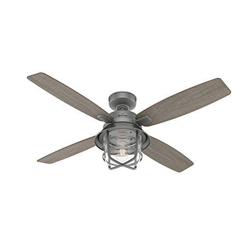 Hunter Fan Company 50390 Port Royale Ceiling Fan, 52, Matte Silver