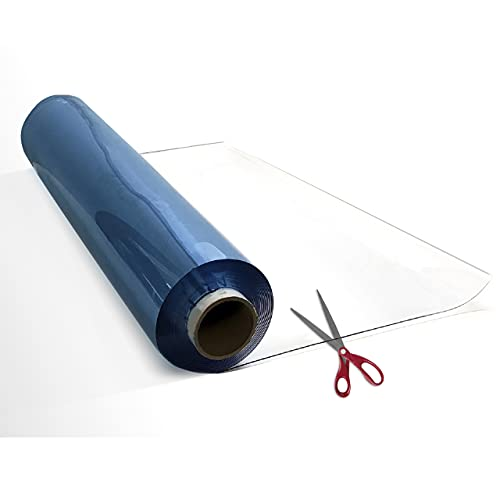 PVC Roll 2mm Thick 30 Inches Clear Roll 3ft, Clear PVC Sheet, Clear Table Cover Protector, Desk Mat Pad, Plastic Table Cover for Restaurants, PVC Floor Mat
