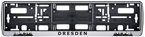 Auto Kennzeichenhalter Skyline Dresden Stadt City 2 Stück