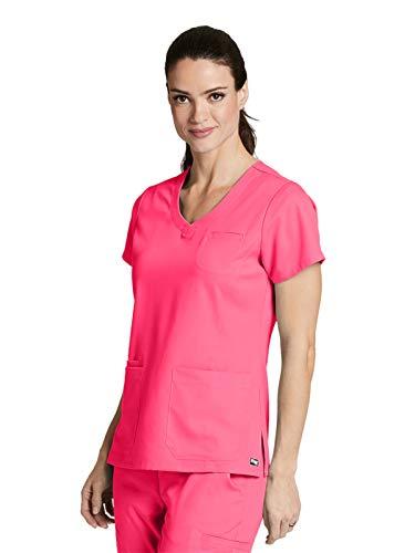Grey's Anatomy 41460 Stylized Princess V-Neck Pink Pop XS