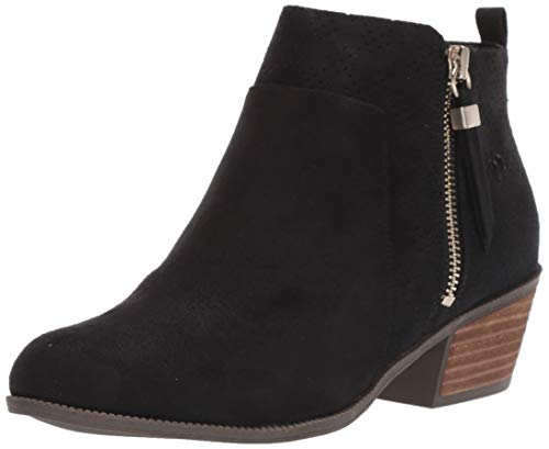 Dr. Scholl's Shoes womens Brianna Ankle Boot, Black Microfiber, 9.5 US