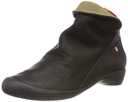Softinos Damen Farah Smooth Combi Stiefeletten, Schwarz (Black/Smoke 552), 36 EU