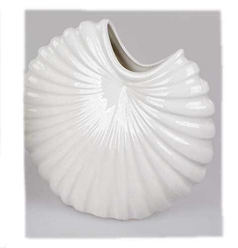 Formano Dekorative Vase 21x21cm und Basic - Weiss aus Keramik glasiert