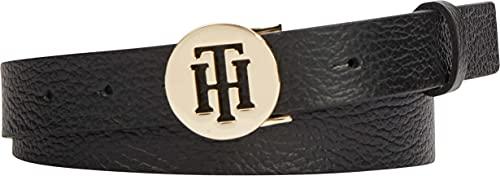 Tommy Hilfiger TH Round 3.0 Cinturn, Negro, 90 cm para Mujer