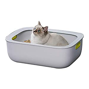 GGBOY Indoor Pet Cat Litter Box Tray, Anti-Splash Open Toilet...
