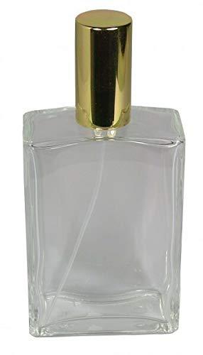 10 Flakon leer 100 ml mit Zerstäuberpumpe und Kappe Gold Balda selber Befüllen mit Parfum Fa.ars