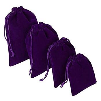 "100 pcs 4"" x 6"" Purple Velvet Bags Drawstring Pouches Jewelry Wedding Party Favors Gift Wholesale"