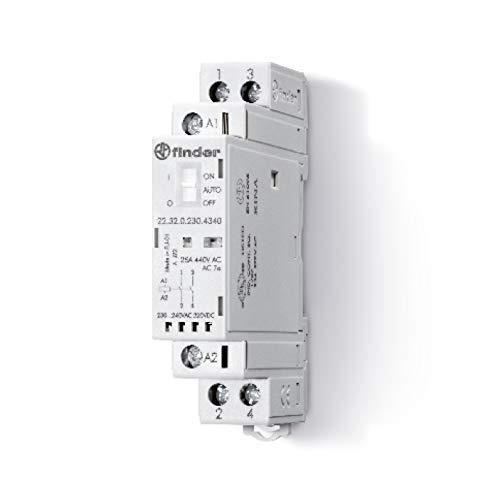 Finder serie 22 - Contactor modular 2na 230v agni selector +indicador +led