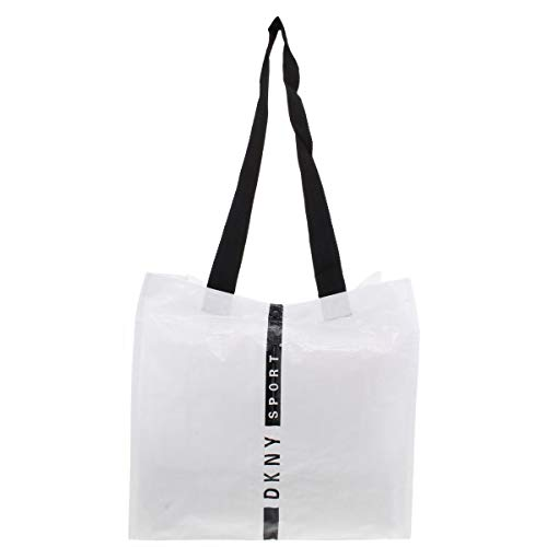 DKNY Sport Womens Gym Workout Tote Handbag WHITE M