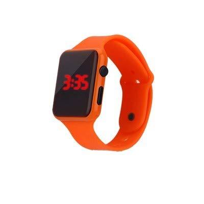 OPAKY Relojes Digitales Deportes al Aire Libre Relojes Reloj Electrónico de la Pareja de Estudiantes y Adultos de LED Cuadrado con Reloj de Ajuste de Concha Electrónico Digital Deporte