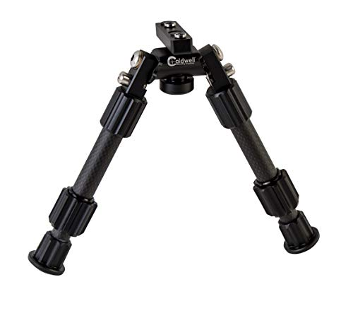 Caldwell Accumax Carbon Fiber M-Lok KeyMod Bipod with Twist Lock Quick-Deployment Legs for Mounting on Long Gun Rifle for Tactical Shooting Range and Sport, 6-9 inches