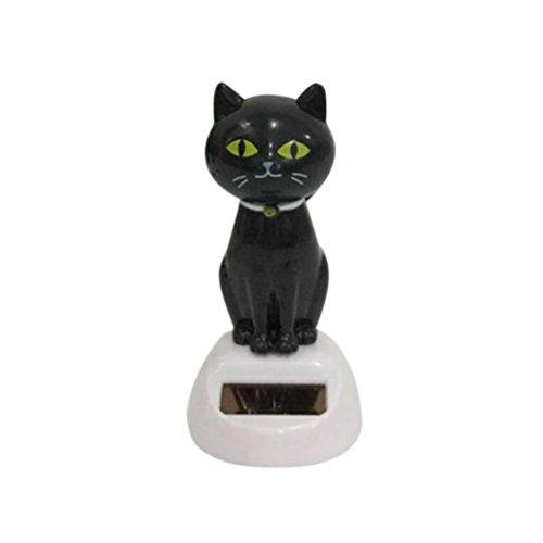 Gaddrt Solar Power Dancing Cute Cat Schreibtisch Auto Spielzeug Ornament Armaturenbrett Schreibtisch Fenster Decor B