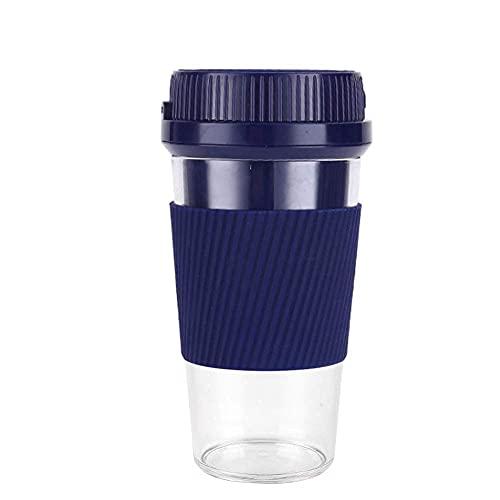 HYLK Vaso de agua Exprimidor eléctrico batidora portátil para batidos de proteínas y batidos Mini batidora de fruta personal 1200 mAh USB recargable en el camino Handhold Juice Cup 300 ml para Ou