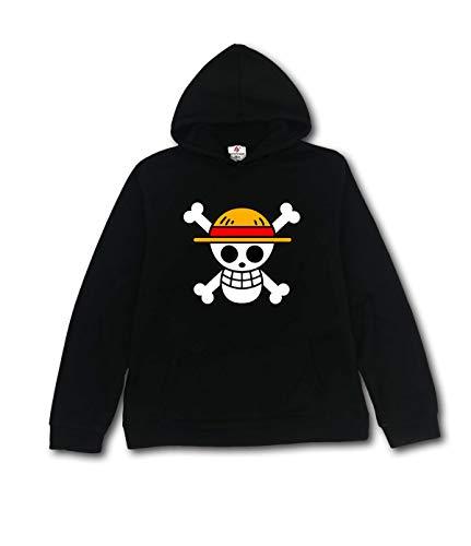 huaxukeji One Piece Anime Hoodies Sweater for Mens L black
