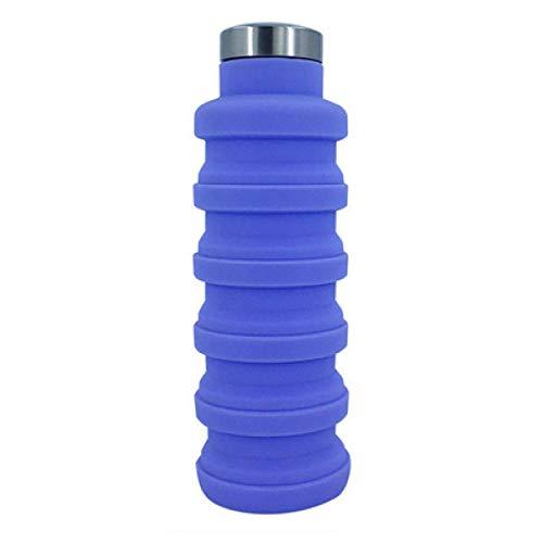 QAZW Botella de Agua,Botella de Agua Deportiva para Niños,Limpieza Fácil,Botella Reutilizable a Prueba de Fugas,Termo,para Hombres, Mujeres, Niños,Purple-500ml