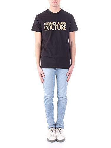 Versace Camiseta Logo Dorado Jeans Couture Negra (L)