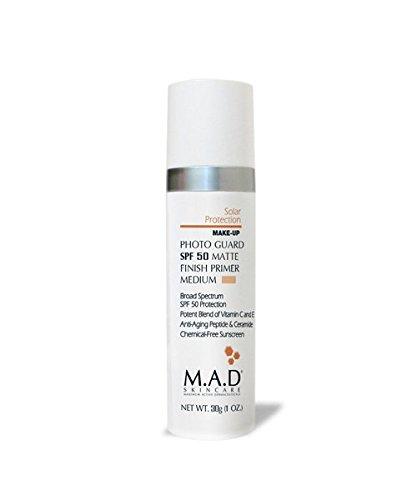 M.A.D Skincare Solor Protection Photo Guard SPF 50 Matte Finish Primer - Anti-Aging (Medium)