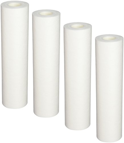 Aquasana EQ-304 Replacement 10-Inch, Sediment Pre-filters for Whole House Water Filter Systems, White,4-pack