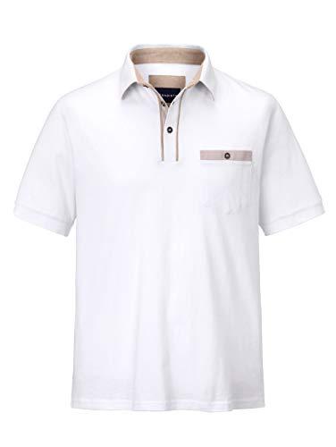 BABISTA Herren Regular Fit Poloshirt in Weiß aus Baumwolle mit Hemdkragen
