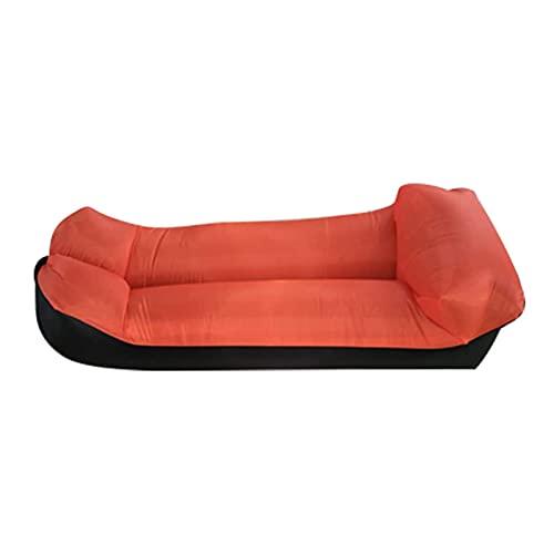 Sofa Hinchable con Paquete Portátil, Impermeable Anti-Air Leaking Sofa, para Viajar, Acampar, Senderismo, Piscina y Partidos de la Playa (Naranja)
