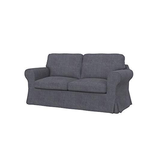 Soferia Fodera Extra Ikea EKTORP Divano Letto a 2 posti, Tessuto Softi Grey