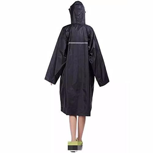 Madeinely Abrigo de lluvia para adultos Outdooors Capota larga para poncho tipo...