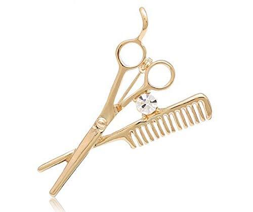 Nueva tendencia, accesorios de moda, broche de tijeras de peluquero, broche para hombres, broches para esmalte n, al por mayor-oro