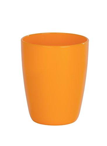Wenko Cocktail Vaso para Cepillos de Dientes, Poliestireno, Naranja, 8x8x10 cm