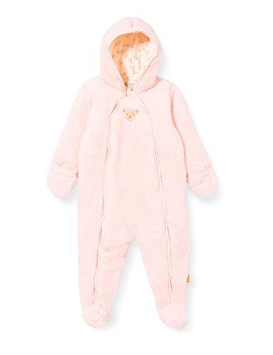 Steiff Baby-Mädchen mit süßer Teddybärapplikation Einteiler, Rosa (Barely Pink 2560), 050