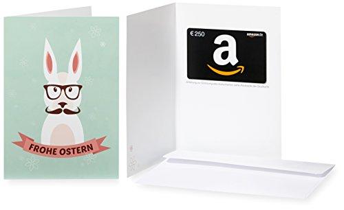 Amazon.de Geschenkkarte in Grußkarte - 250 EUR (Hipster-Hase)