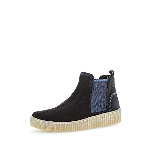 Gabor Damen Stiefeletten, Frauen Chelsea Boots,Best Fitting,Übergrößen,Optifit- Wechselfußbett,Pazifik/blau(Natur,40 EU / 6.5 UK