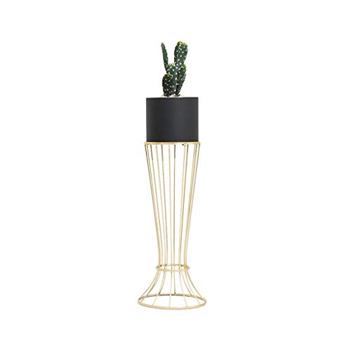 Everyday home Cadre de fleurs nordique en fer forgé salon balcon multifonctions sur pied créatif moderne minimaliste stand de fleurs (Couleur : NOIR, taille : 89 * 23cm)