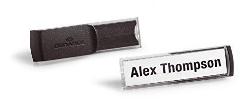 Durable 812657 Namensschild Smart Clip (13 x 53 mm) Packung à 25 Stück transparent